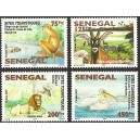Senegal 2007 / 2008 - Touristic places - Wild animals, birds - Bridge - 4 st. MNH