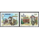 Senegal 2003 - Mi 2032 to 2033 - Paris-Dakar Rally in 2004 - cars, motorbikes - Dromedary - 2st. MNH