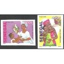 Senegal 2009 - Tribute to the mother - Bouquet of flowers - 2 st. UNPERFORATED MNH