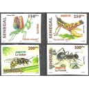 Senegal 2007 / 2010 - Insects - 4 st. UNPERFORATED MNH
