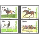 Senegal 2009 / 2012 - Horse Racing - 4 st.UNPERFORATED  MNH