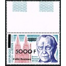 Benin 2002 - parcel Mi P 51 type 2 - local overprint 5.000 f - K. Adenauer - Cologne Cathedral - MNH - CV 45 €