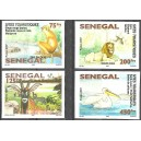 Senegal 2007 / 2008 - Touristic places - Wild animals, birds - Bridge - 4 st. UNPERFORATED MNH