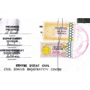 z - Cameroon fiscal stamp 2013 - 1000 f - on full document