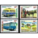 Senegal 2002 / 2004 - Land transportation (bus, cart, train, ...) - 4 st. MNH