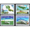 Senegal 2006 - Air transport (Concorde, planes, , ...) - 4 st. MNH