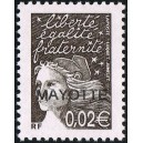 2003 - Mayotte - Y&T 113a - 0.02 € MAYOTTE type Marianne (Luquet) - MNH