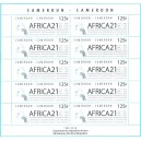 Year 2010 - Yaounde international conference AFRICA 21, 125 f - MNH - COMPLETE SHEET