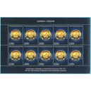 Year 2010 - 50 years independance, coin 200 f - MNH - SHEET