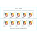 Year 2010 - 50 years independance, arms 250 f - MNH - SHEET
