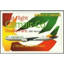 Year 2011 - new airline CAMAIR-Co, plane Boeing 767, postcard and flyer - no stamp