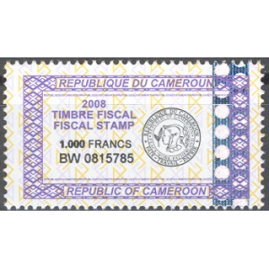 x - Cameroun timbre-fiscal 1000 f - 2008 **