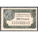 z - fiscal stamp: communal stamp 200 f - MNH