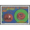 1998 - Mi 1556 - surcharge LEGAL - Fruit : Bamou **