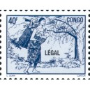 1998 - Mi 1561 - local overprint LEGAL - Mother carrying baby - 40 f blue - MNH