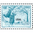 1998 - Mi 1564 - local overprint LEGAL - Mother carrying baby - 100 f blue-green - MNH