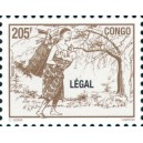 1998 - Mi 1566 - local overprint LEGAL - Mother carrying baby - 205 f brown - MNH