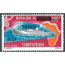 2009 - Mi 1613 - local overprint 400 f - Ship: ocean liner - Europafrica issue - MNH