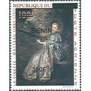 2009 - Mi 1561 - local overprint 300 f - Woman playing stringed instrument, by Watteau - MNH