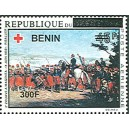 2009 - Mi 1542 - local overprint 300 f - Zouave Regiment at Magenta, by Riballier - Red Cross - horse - MNH
