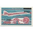 2009 - Mi 1526 - local overprint 200 f - Centenary of UPU - Concorde plane - MNH