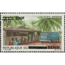 2009 - Mi 1524 - local overprint 200 f - Wolkswagen mail truck at rural post office - MNH