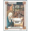 2009 - Mi 1521 - local overprint 200 f - Adoration of the Shepherds, by the master of the Hausbuch - MNH