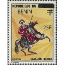 2009 - Mi 1468 - local overprint 25 f - Bariba warrior, rider - MNH