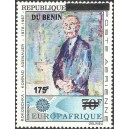 2008 - Mi 1428 - local overprint 175 f - Europafrique, Adenauer by Kokoschka - MNH
