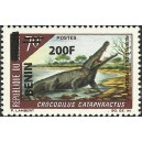 2009 - Mi 1498 - local overprint 200 f -  African slendersnouted crocodile - MNH