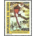 "2007 - Mi 1402 - local overprint 175 f - Monkey ""cercopithecus"" 250 f - MNH"