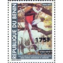 "2007 - Mi 1406 - local overprint 175 f - Monkey ""cercopithecus"" 600 f - MNH"