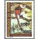"2007 - Mi 1411 - local overprint 200 f - Monkey ""cercopithecus"" 400 f - MNH"
