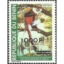 "2007 - Mi 1415 - local overprint 1.000 f - Monkey ""cercopithecus"" 300 f - MNH"