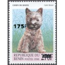 "2005 - Mi 1386 - local overprint 175 f - Dog ""cairn terrier"" - CV 60 € MNH"