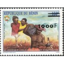 2002 - Mi 1344 - local overprint 1.000 f - Council of the entente - type I - MNH