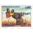 2002 - Mi 1344 type 1 - local overprint 1.000 f - Council of the entente - MNH