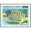 "2000 - Mi 1297 - local overprint 150 f - Fish ""pygoplites diacanthus"" - CV 100 € MNH"
