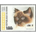 "2000 - Mi 1273 - surcharge locale 150 f - Chat ""seal colour point"" - cote 100 € **"