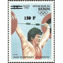 2000 - Mi 1253 - local overprint 150 f - Summer Olympics, Atlanta 1996 - weight lifting - CV 100 € MNH