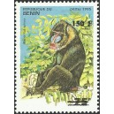 "2000 - Mi 1254 - local overprint 150 f - Monkey ""mandrillus sphinx"" - CV 100 € MNH"