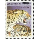 "2000 - Mi 1277 - local overprint 150 f - Cats: leopard ""panthera pardus"" - CV 100 € MNH"