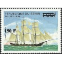 "2000 - Mi 1281 - surcharge locale 150 f - Voilier ""clippers d'opium"" - cote 100 € **"