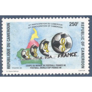 Cameroun 1998 - Mi 1235 - Football : coupe du monde 1998 en France **
