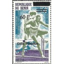2002 - parcel Mi 33 type 1 - local overprint 60 f - West African Games - Athletics: hurdles - MNH