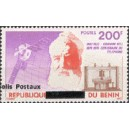 2002 - parcel Mi 35 type 1 - local overprint - Telephone and satellite - Graham Bell - MNH