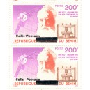 2002 - parcel Mi 35 types 1 and 2 adjoining - local overprint - Telephone and satellite - Graham Bell - MNH