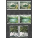 2011 - Landscapes of the Comoros: waterfall, volcano crater, lake - 6 st. MNH