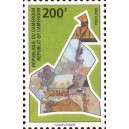 Mi 1240 - Symbole national : carte du pays, **
