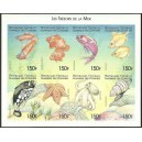 1999 - Mi 1540 to 1547 - Fishes - UNPERFORATED - MNH